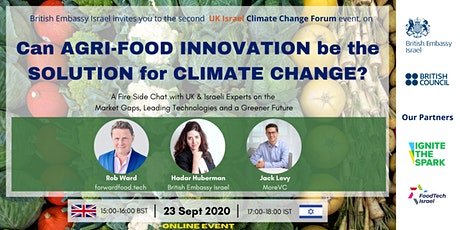 UK-Israel Climate Change Innovation Forum tickets