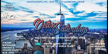 10/10  Rooftop Vibes  |#DetoxSaturdays #RooftopBrunch | NYC skyline view tickets