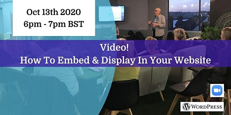 Video!  How To Embed & Display In Your Website tickets