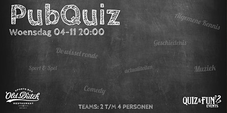 PubQuiz november | Old Dutch tickets