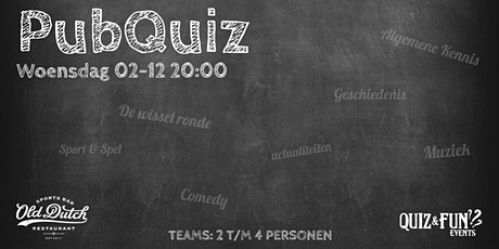 PubQuiz december | Old Dutch tickets