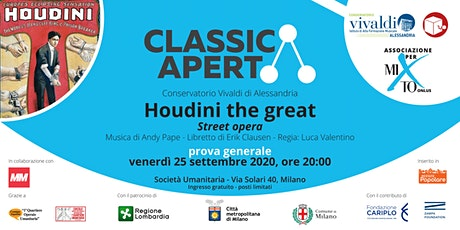 HOUDINI THE GREAT PROVA APERTA biglietti