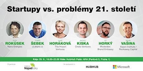 Startupy vs. problémy 21. století tickets