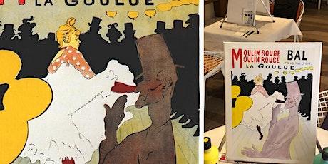 Peindre à la manière des artistes de Montmartre: Toulouse Lautrec billets