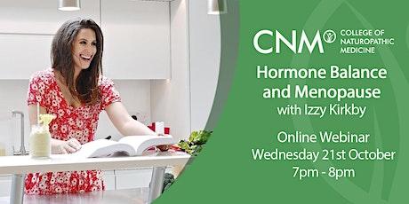 CNM Online Health Talk - Women's Health: Hormone Balance and Menopause tickets