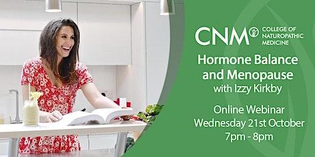 CNM Online Health Talk - Women's Health: Hormone Balance and Menopause IE tickets
