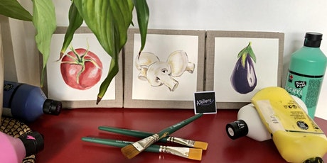 Peindre son Triptyque Légumes du Marché billets