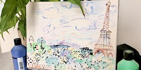 Peindre à la manière des artistes de Montmartre: DUFY billets
