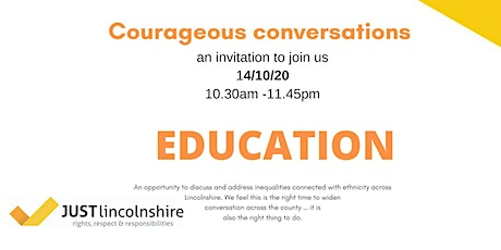 Courageous conversations Education tickets
