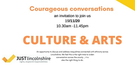 Courageous conversations culture and arts tickets