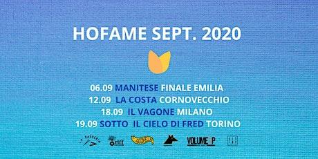 Hofame + guest live al Vagone - 18/09/2020 tickets