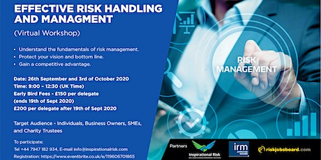 Learn To Manage Personal, Business and Charity Risks tickets