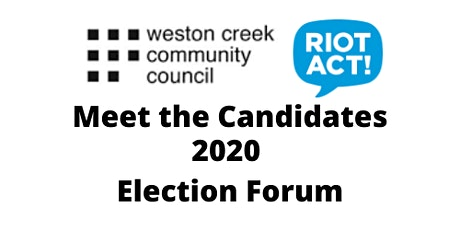 Weston Creek Community Council - Meet the Candidates Forum tickets