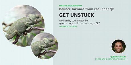 Free Online Workshop. Bounce forward from redundancy: get unstuck tickets