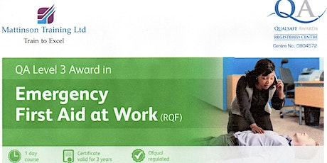 Emergency First Aid at Work course tickets