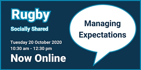 Rugby Socially Shared - Managing Expectations tickets