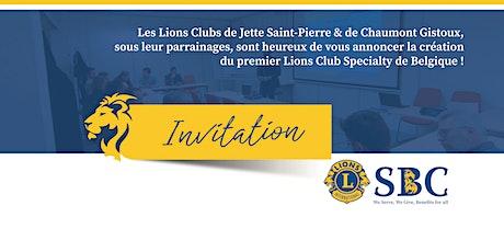 Remise de Charte LIONS SBC billets