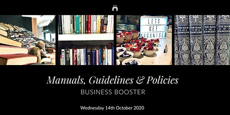 Business Booster : Manuals,Guidelines & Policies (monthly for members only) tickets
