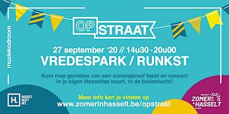 OP STRAAT Vredespark - Runkst tickets