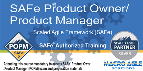 SAFe 5.0 Product Owner/Product Manager with -Virtual Instructor Led tickets