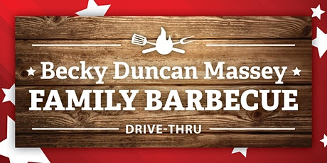 Becky Duncan Massey family barbecue drive-thru tickets