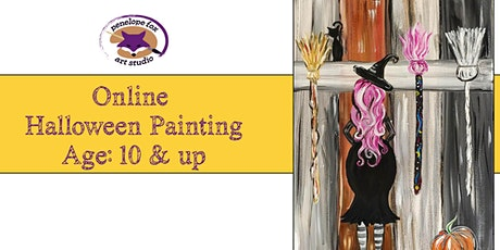 ONLINE- Halloween Paint Party - WITCH tickets