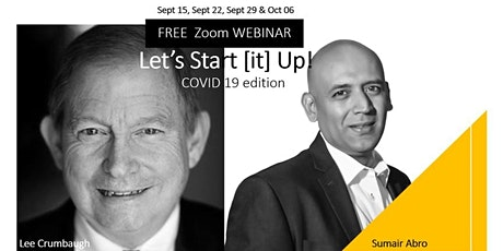 FREE Zoom Webinar - Let's Start [it] UP! - COVID 19 Edition tickets