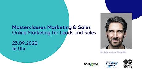 Masterclass Part I: Online Marketing für Leads und Sales Tickets