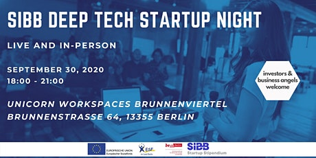 SIBB Deep Tech Startup Night (live & in-person) tickets