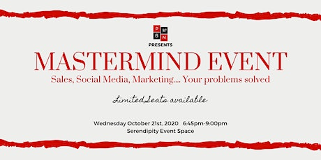 Mastermind -Sales, Marketing Social Media... Your problems solved tickets