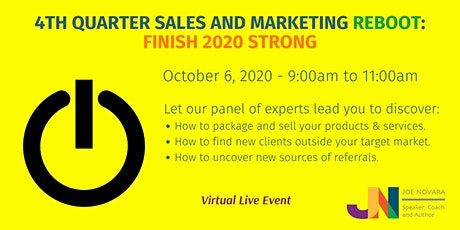 4th Quarter Sales and Marketing Reboot: Finish 2020 Strong tickets