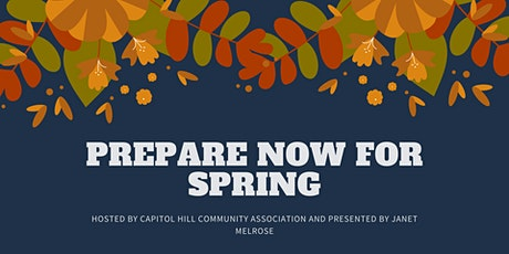 PREPARE NOW FOR SPRING tickets