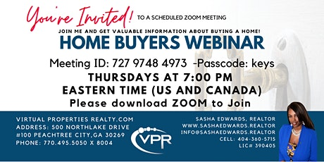 Home Buyers Webinar Special tickets