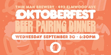 Oktoberfest Beer Pairing Dinner at Thin Man Brewery tickets