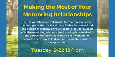 NPAW UCLA: Making the Most of your Mentoring Relationships tickets
