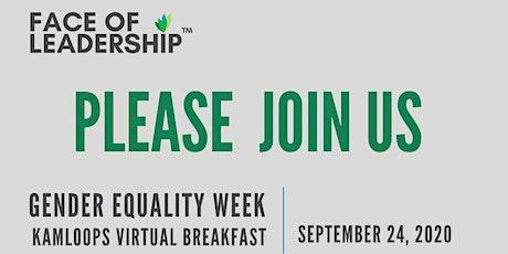 Gender Equality Week Virtual Breakfast - Kamloops tickets