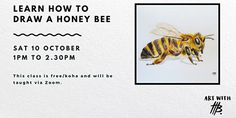 Live Art Class: Draw an Illustrated Honey Bee tickets