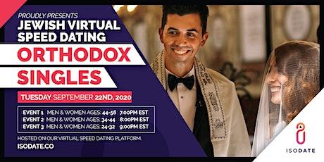 Isodate's Orthodox Jewish Virtual Speed Dating tickets