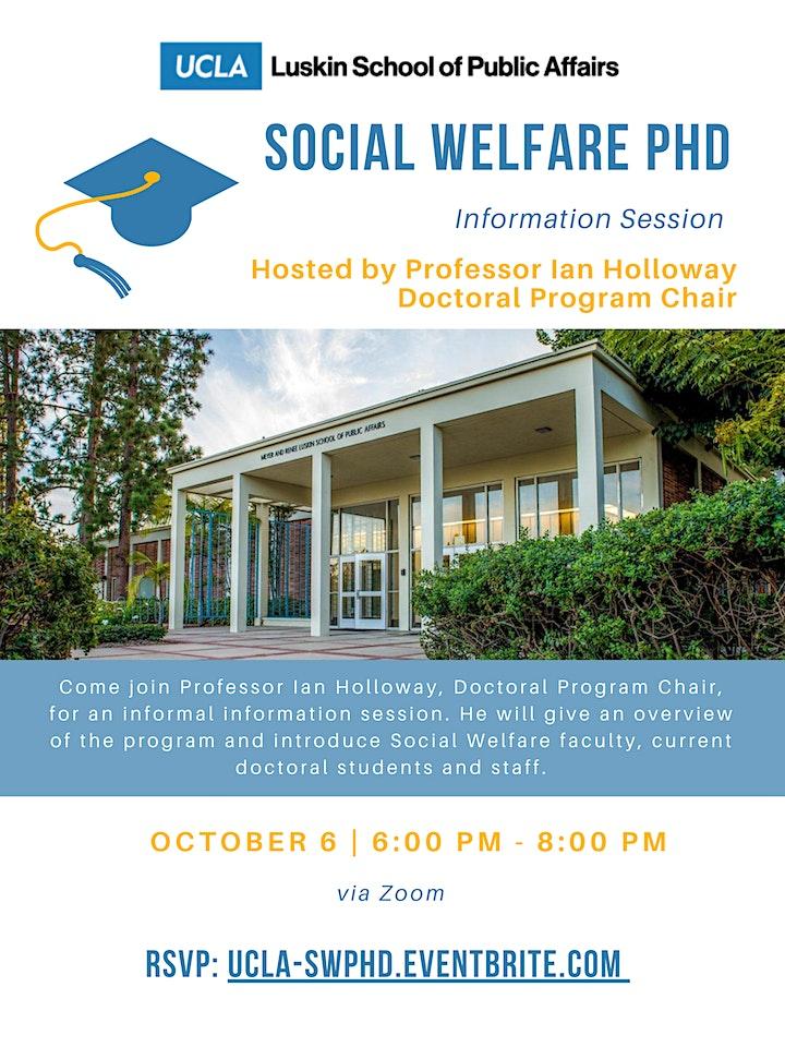 UCLA Social Welfare PhD Information Session image