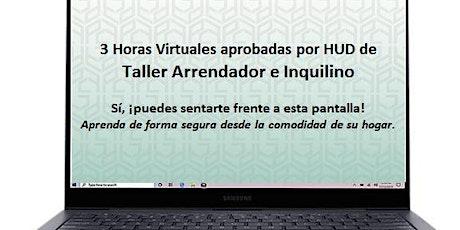 Taller virtual de 3 horas de propietarios e inquilinos aprobado por HUD tickets
