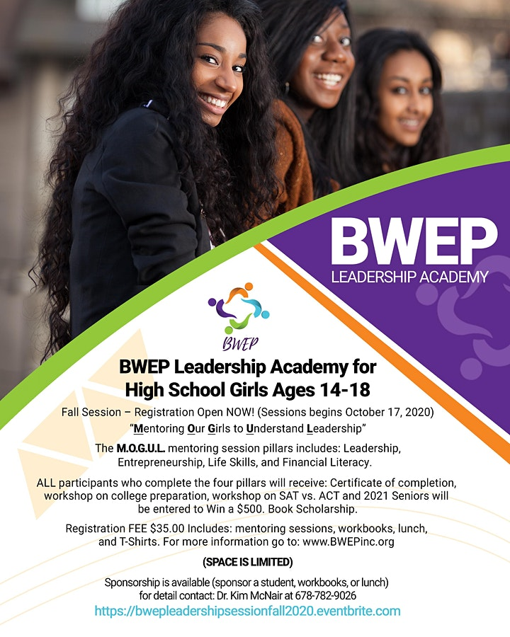 BWEP Leadership Academy for High School Girls  ages 14-18 Fall Sessions image