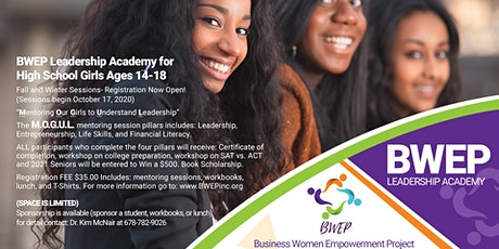 BWEP Leadership Academy for High School Girls  ages 14-18 Fall Sessions tickets