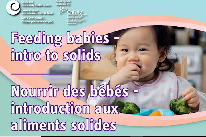 PRC'S Virtual Parent Info Session - Feeding your Baby -Intro to Solids image