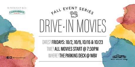 Drive-In Movies at West Broad Village tickets