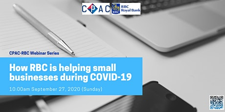 CPAC-RBC Webinars: How RBC is helping small businesses during COVID-19 tickets