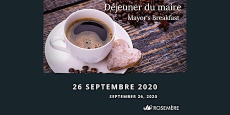 Déjeuner du maire - 26 septembre 2020 billets