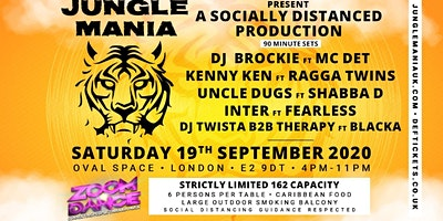Jungle Mania. Zoom Dance. The online Rave. Poster