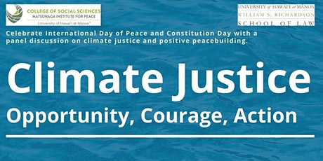 Climate Justice: Opportunity,Courage, Action tickets
