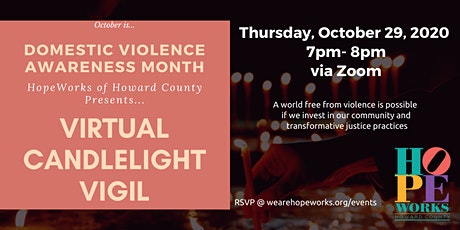 Domestic Violence Awareness Month Candlelight Vigil tickets