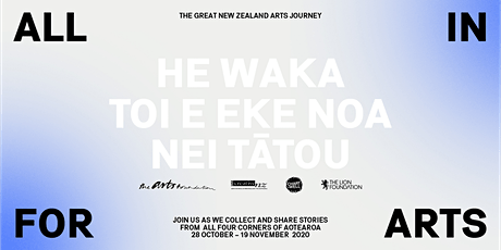 ALL IN FOR ARTS - Ōtepoti Dunedin tickets